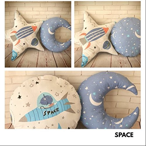 Decorative pillows for boy's nursery and bedroom