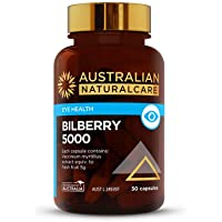Australian NaturalCare 5000mg Bilberry for Eyehealth Capsules, 30 Count