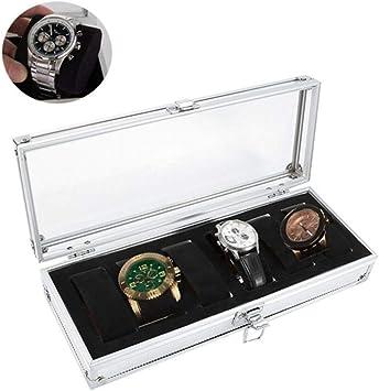 Acogedor Caja de Relojes, Caja de Reloj de Aluminio, 6/12 ...