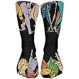 Unique Hip-hop Rap Music Crew Socks Hiking Compression Socks For Girls