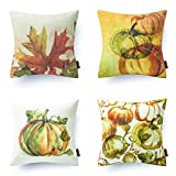 Decorative Pillow Cover - Phantoscope Thanksgiving Decorative Throw Pillow Case Cushion Cover Set of 4 18