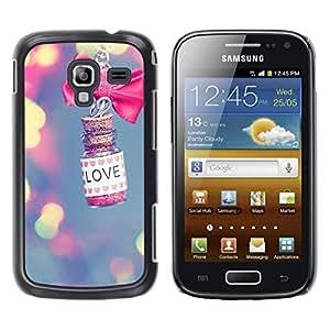 TopCaseStore / la caja del caucho duro de la cubierta de protección de la piel - Blur Pink Meaning Valentine - Samsung Galaxy Ace 2 I8160 Ace II X S7560M