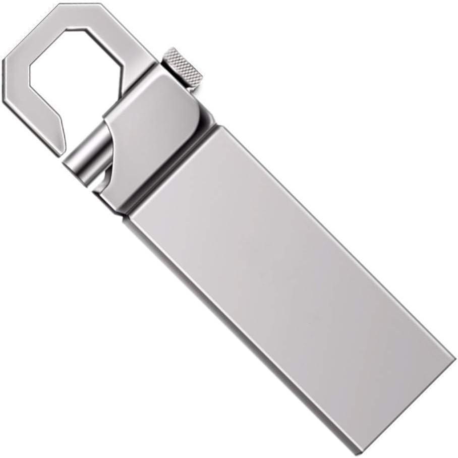 Metal USB Flash Drive Pen Drive 256GB 512GB 1TB 2TB alta velocidad USB Flash Drive (1tb, plata)