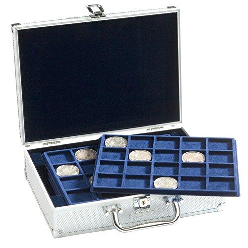 Leuchtturm (322414 Valisette numismatique pour 120 pièces de 10 Euros sous Capsules, 6 Plateaux Inclus
