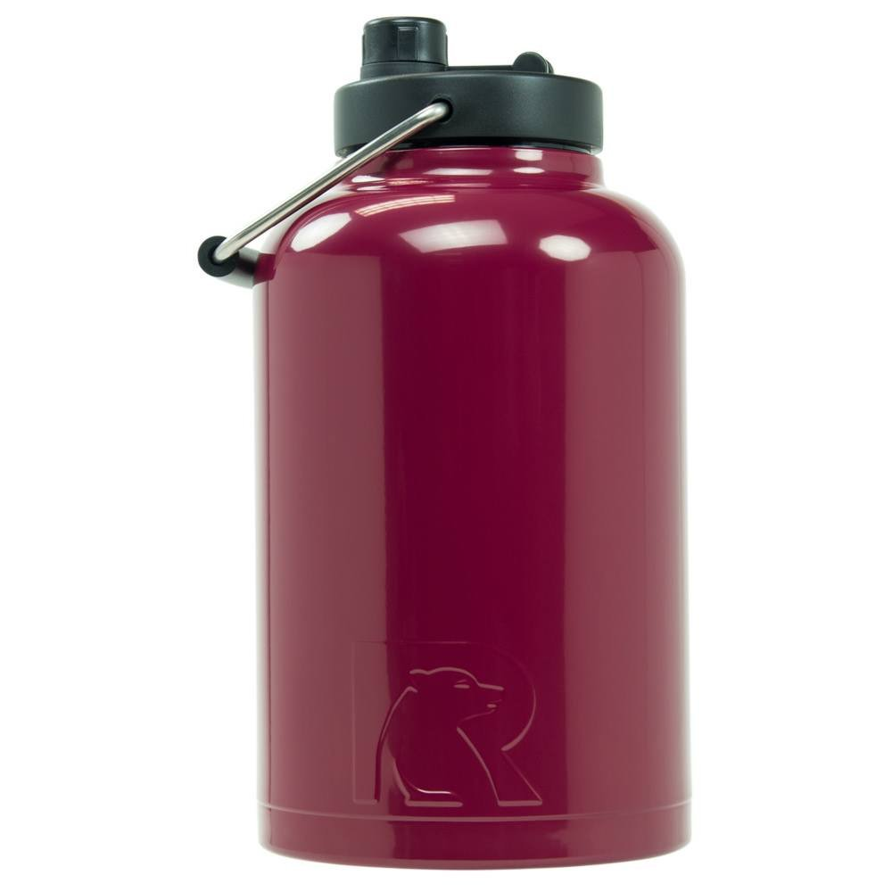 RTIC Double Wall Vacuum Insulated Stainless Steel Jug (Maroon, One Gallon)