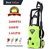 Homdox Electric Pressure Washer 2600 PSI 1.6 GPM High Pressure Washer with Power Nozzle Gun and Spray Gun for Car, Garden, Patio