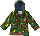 Hatley Little Boys' Children Monsters Rain Coat, Everest, 6