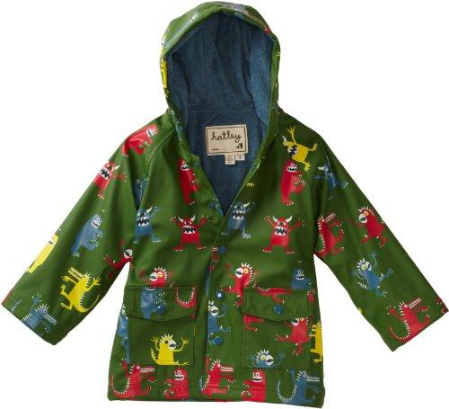 Hatley Little Boys' Children Monsters Rain Coat