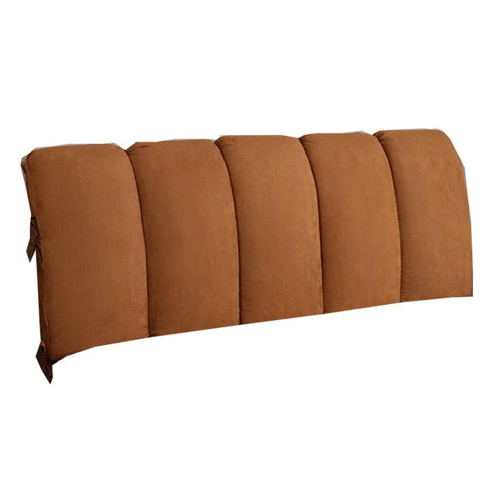 50cm RUYII Schienale del Cuscino della Testata del Letto Rimovibile Testiera del Doppio Cuscino della Testiera del Letto Cuscino del Letto Grande Cuscino del Letto,Brown-120