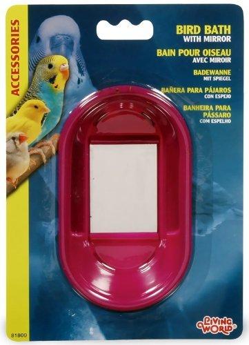 Living World Oval Bird Bath with Mirror - Hagen Birdbath