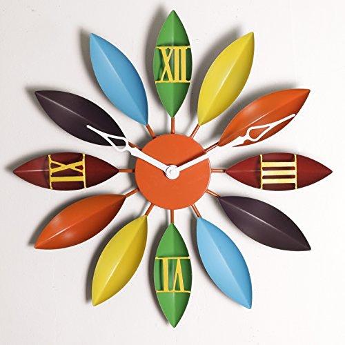 Brandream Creative Vintage Large Wall Clock Decorative Metal Wall Clocks