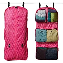 RuMe Tri-fold Garment/Clothing Travel Organizer Bag With Attached Packing Cubes For Clothes And Shoes (Emerson)