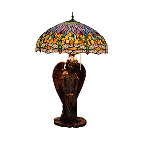 Lámpara De Mesa Tiffany Style De 20 Pulgadas, 3 Luces, Lámpara De ...