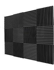 BEWAVE Acoustic Panels Soundproofing Acoustic Foam, Sound Proof Padding Wedge Tiles, Studio Sound Treatment
