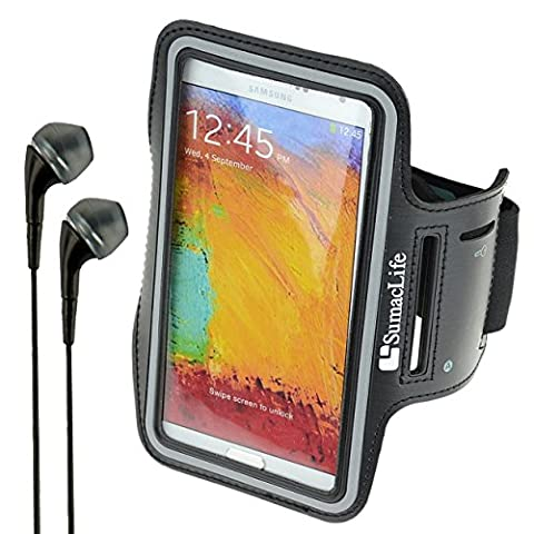 SumacLife Sports Active Workout Armband for Alcatel OneTouch Series Smartphones (Black) + VanGoddy (Alcatel Android 4g Fierce 2)