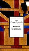 Pensées sur la morale par Comte-Sponville