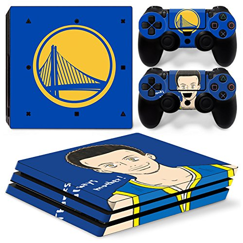 FriendlyTomato PS4 Pro Skin and DualShock 4 Skin - Basketball NBA LA - PlayStation 4 Pro Vinyl Sticker for Console and Controller Skin