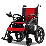 Culver Electric Wheelchair -Foldable Lightweight Heavy Duty Lithium Battery Electric Power (Red) 2018 Best Model