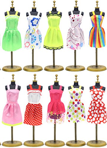5f7744a7599 Amazon.com  Barbie Clothes 58Pcs Princess Dress Accessories Shoes Clothes  For Barbie Doll Include 10 Pcs Barbie Clothes And 48 Pcs Accessories  Home    ...