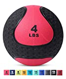 Medicine Exercise Ball with Dual Texture for Superior Grip by Day 1 Fitness - 4 Pounds - Fitness Balls for Plyometrics, Workouts - Improves Balance, Flexibility, Coordination