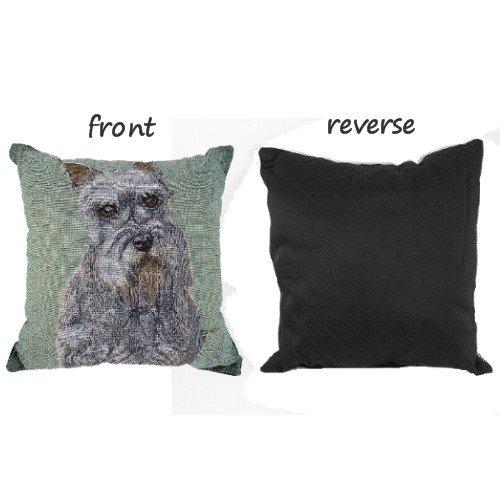 BigKitchen Schnauzer Dog Tapestry Decorative Throw Pillow