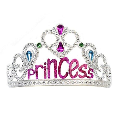Glittering Princess Tiara Silver Crown Costume Accessory - Men's Beauty Pageant Costume