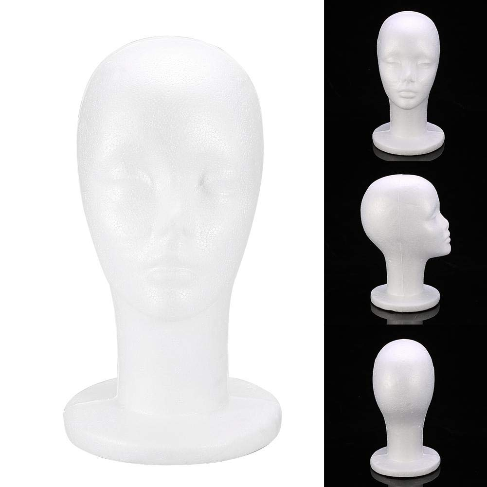 Practical Tools for Mall Center Shop to Show Wig Styling Hat Headwear Female Displaying Model 1PC Foam Manikin Head