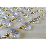 1 Yard Asfour Lead Crystal Chandelier Prisms Clear Chains