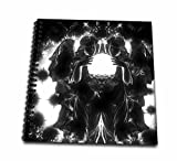 WhiteOaks Photography and Artwork - Christmas - Gothic Angelic Blessings is a darker goth angelic Christmas Design - Drawing Book 8 x 8 inch (db_232035_1)