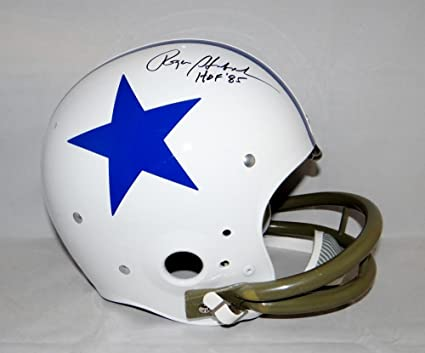 ebced7e72b3 Image Unavailable. Image not available for. Color: Roger Staubach Signed  Blk Dallas Cowboys ...