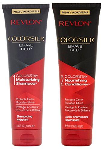 Revlon Colorsilk Colorstay Moisturizing Shampoo & Conditioner Set, Brave Red, 8.45 Oz Each ()