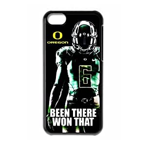 DIY Design Dream 20 Sports NCAA Oregon Ducks Footballl Print Black Case With Hard Shell Cover for Apple iPhone 5C-Just DO It