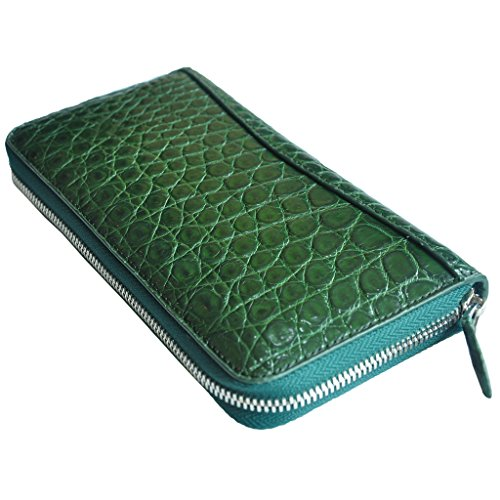 CROCUST Luxury Crocodile Skin Women's Wallet Crocodile Leather Clutch Purse Handmade Holder Purse by FOUR-C