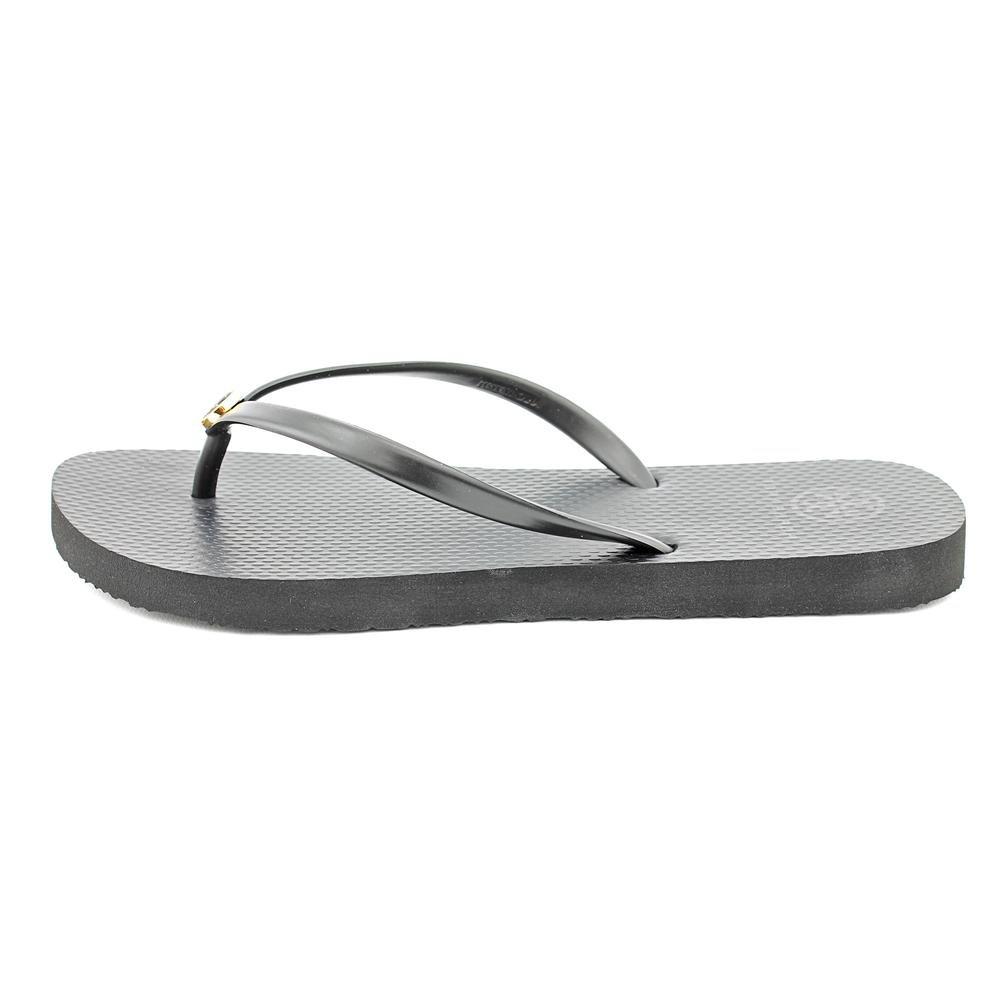 e5a8f24cc67d Tory Burch Thin Flip Flop Black Sandal (8