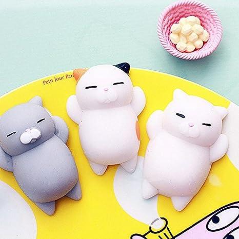 Amazon.com: Mini esponja suave y lindo gato antiestrés de ...