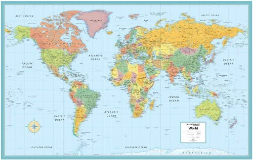 World Rolled Map (M Series World Wall Maps): Robert G. Enzel ...