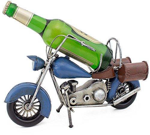 BRUBAKER Beer Bottle Holder Vintage Motorcycle - Metal - Beer Racks and Stands - Great Decoration