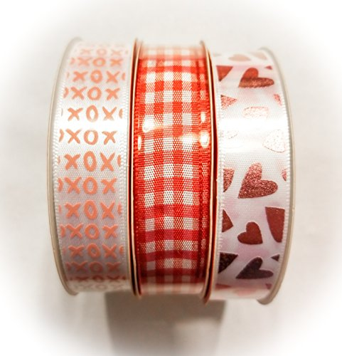 3-pack of Assorted Valentine39;s Day Ribbon, 3-yd