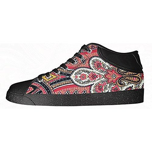 Custom paisley Mens Canvas shoes I lacci delle scarpe in Alto sopra le scarpe da ginnastica di scarpe scarpe di Tela.