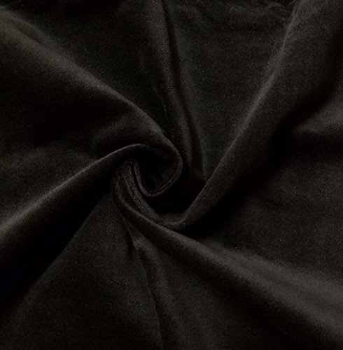 Quality Stretch Black 100% Cotton Velvet Velour Fabric for Upholstery/Drapery/Crafts/Costumes Heavy 16oz Weight Thick Curtain Material Sold by The Yard at 54 inch Wide Cotton Velvet Upholstery