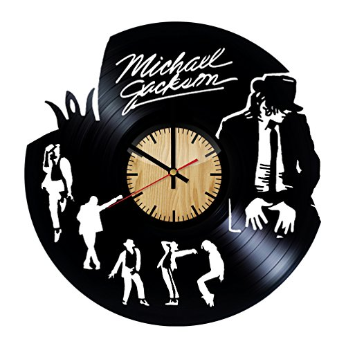 ForLovedGifts Michael Jackson Design Vinyl Wall Clock – Handmade Gift for Any Occasion – Unique Birthday, Wedding, Anniversary, Wall décor Ideas for Any Space