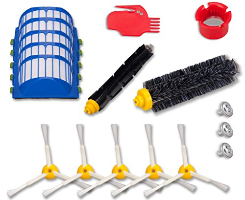 I-clean iRobot Roomba 650 655 630 620 645 Replacement Vacuum Cleaner Accessories/Parts, 14pcs Replenishment Brush Kit For Roomba 600 Series