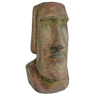 Design Toscano Easter Island Ahu Akivi Moai Monolith Garden Statue, Medium, 16 Inch, Polyresin, Grey Stone : Garden & Outdoor
