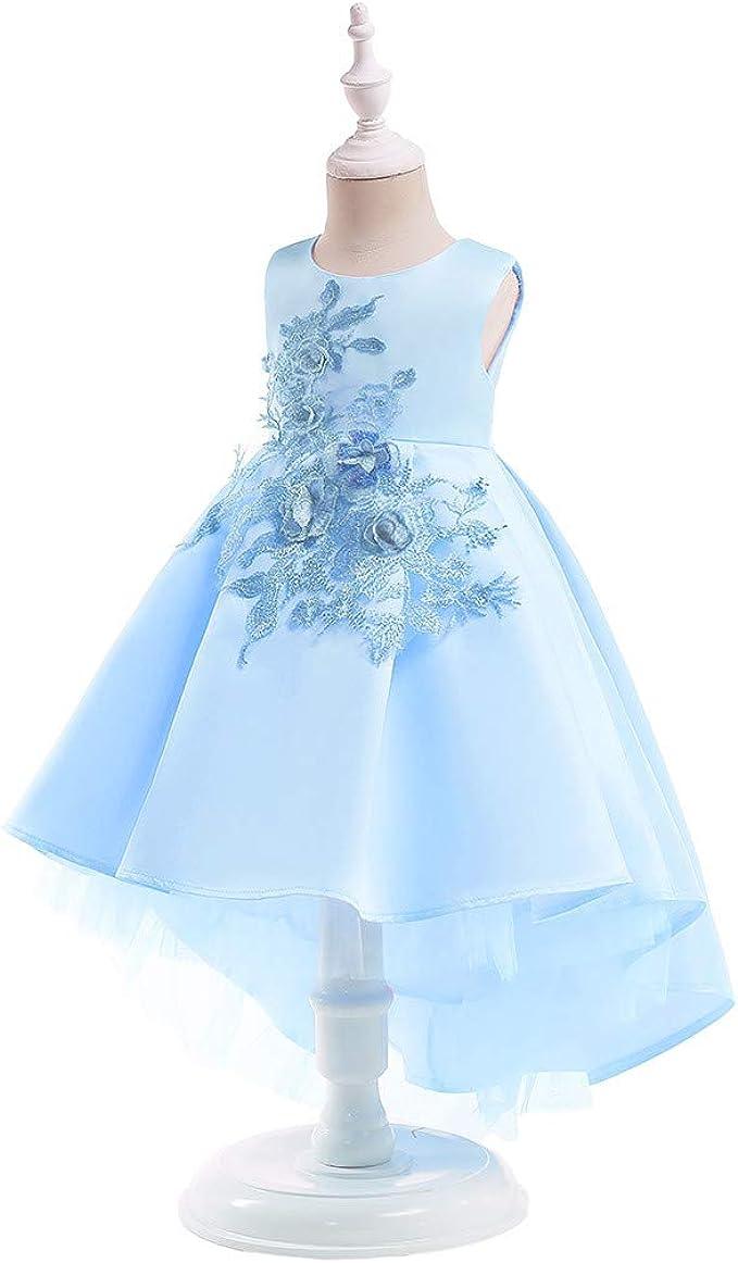 Moneycom Girls Ceremonie Mariage Sunny Fashion Mode Chic Deguisement Carnaval Floral B/éb/é Filles Princesse Demoiselle Honneur Robe de Mari/ée Robe de Soir/ée Anniversaire