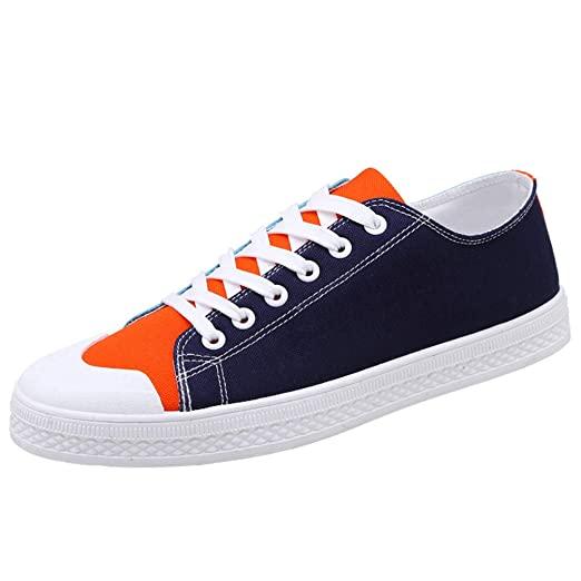 10ef6deaed5ee Mens Classic Canvas Shoes, Summer Casual Low Top Lace Up Footwear ...