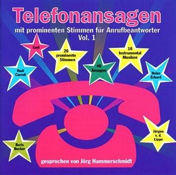 Telefonansagen Mit Prominenten Stimmen Für.Anrufbeantworter Vol.1