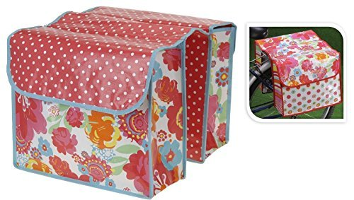 Fahrradtasche Satteltasche Gepäcktasche Gepäckträgertasche WASSERFEST (Blumen)