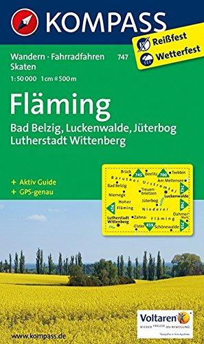 Fläming, Belzig - Luckenwalde, Jüterbog - Lutherstadt Wittenberg: Wandern/Rad. Mit touristischen Hinweisen. 1:50.000. GPS-genau Landkarte – Folded Map, 1. August 2014 KOMPASS-Karten GmbH Fläming Innsbruck 3854915071