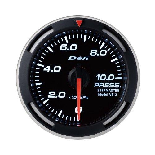 Defi DF06606 Racer Metric Pressure Gauge, White, 52mm