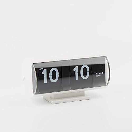 twemco Homeloo Retro Modern Germany Quartz Flip Clock Qt30t White